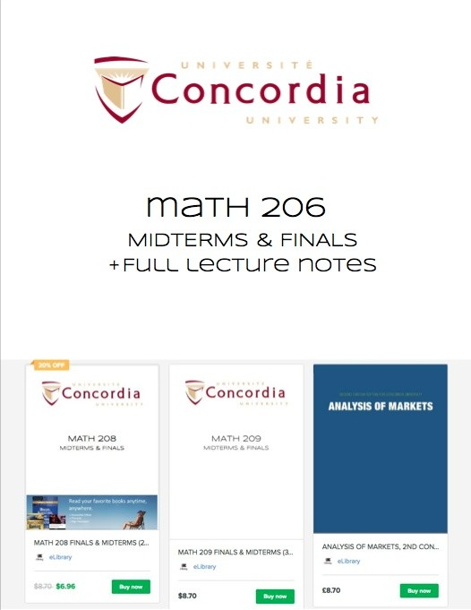 MATH 206 FINALS & MIDTERMS (22 EXAMS)