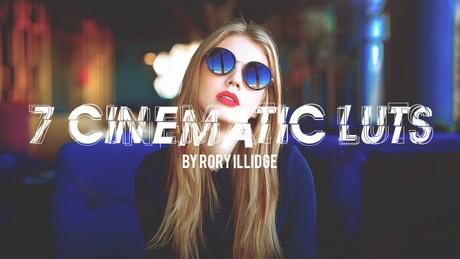 7 Cinematic LUTs • LUT Pack | Premiere Pro, Final Cut Pro