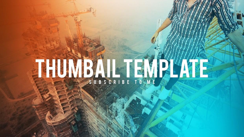 FREE Thumbnail Template   Tech, Gamers, Vlogs   Adobe Photoshop CC 2017