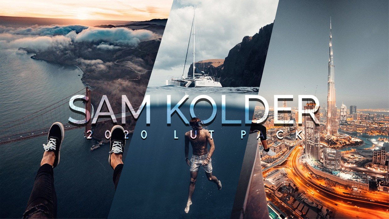 13 Sam Kolder LUTs | LUT Pack 2020 | Video Color Grading Presets
