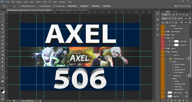 ANIME BANNER TEMPLATE