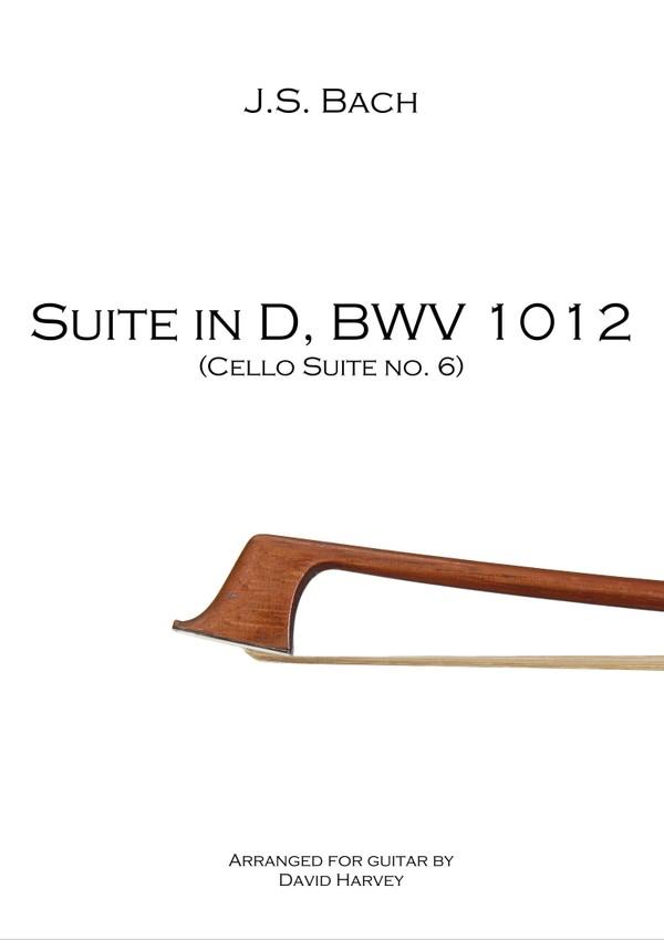 J.S. Bach - Suite in D, BWV 1012 (6th Cello Suite - digital download)