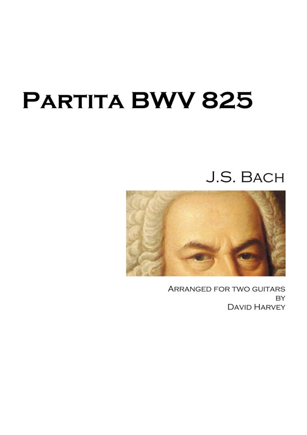 J.S. Bach - Partita No. 1, BWV 825 (guitar duo - digital download)
