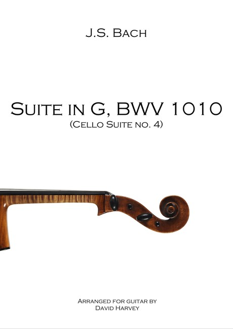 J.S. Bach - Suite in G, BWV 1010 (4th Cello Suite - digital download)