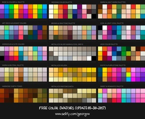 110+ COLOR SWATCHES & HARMONIC PALETTES for Procreate