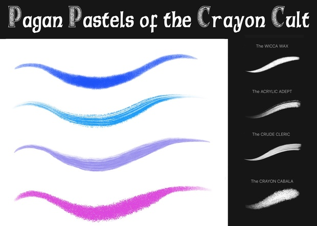 Pagan PASTELS of the CRAYON Cult: 20+ Pastel, Crayon & Dry Paint Brushes for Procreate