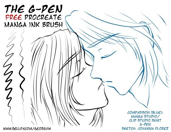 FREE Manga Ink Brush: G-PEN for Procreate