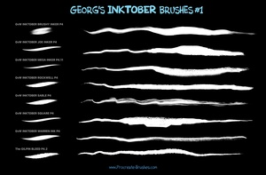 Georg's INKTOBER Set: 45+ INK BRUSHES & MARKER for Procreate 4