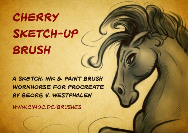 The CHERRY SKETCH-UP - A Multi-Purpose Sketch, Ink & Paint Brush For Procreate