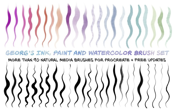 Procreate MEGAPACK: 400+ Premium Brushes incl. FREE Updates
