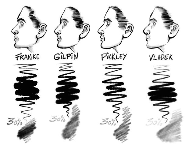 The DIRTY DOZEN Ink, Shading & Paint Set: 20+ Gritty Grunge Brushes forProcreate