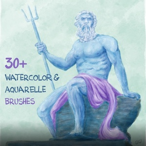 Georg's WATERLIES: 40+ Watercolor, Blending & Paint Brushes for Procreate