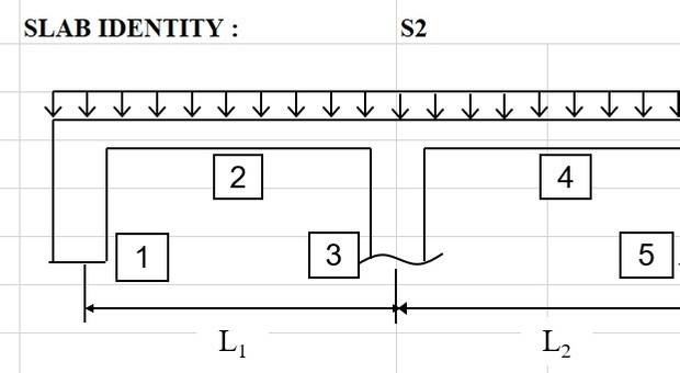Continuous One Way Slab