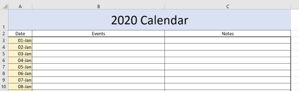 2020 Calendar and Daily Planner