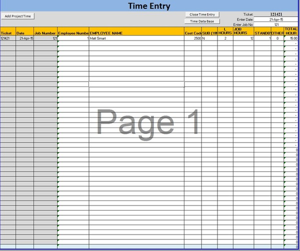Excel Project Dashboard