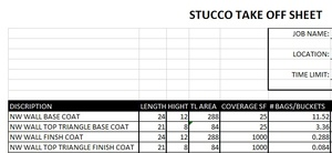 Stucco Bid Sheet