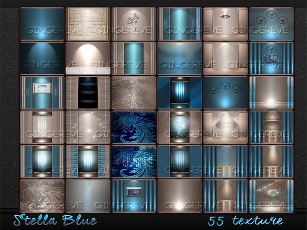 Stella Blue Room Textures