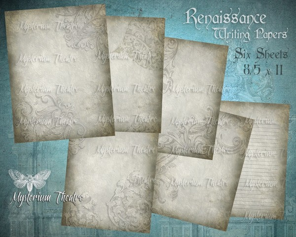 Da Vinci Renaissance Digital Journal Stationary Papers