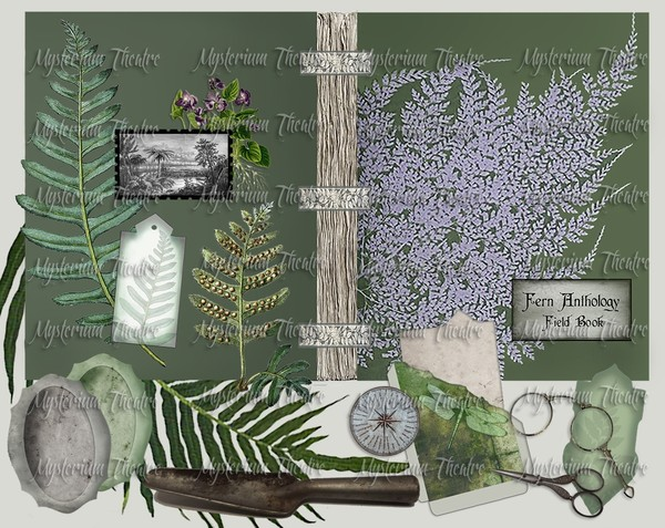 Digital Journal Kit Printable Fern Anthology