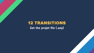 12 TRANSITIONS - AFTER EFFECTS FILE