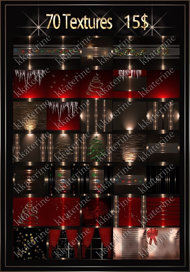 CHRISTMAS PACK 70 TEXTURES