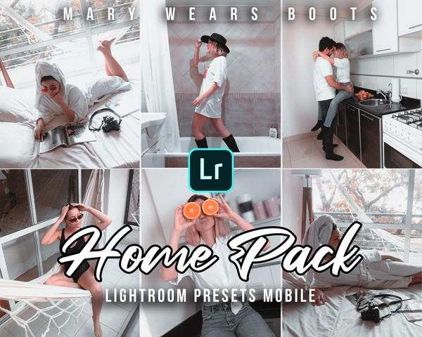 5 Presets Lightroom Mobile: Home Pack By Mary Wears Boots