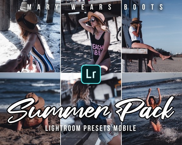 5 Presets Lightroom Mobile: Summer Pack By Mary Wears Boots