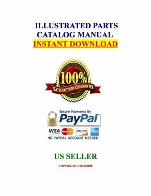 Kubota B7300HSD Tractor Illustrated Master Parts Catalog Manual Guide download