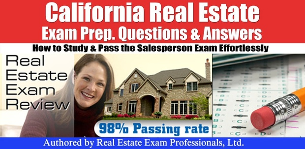 California CA Real Estate Practice Prep Exam questions and answers  pdf  format
