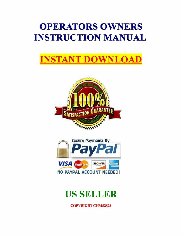 Kubota Tractor L4400 Operators Instruction Owners Manual Guide