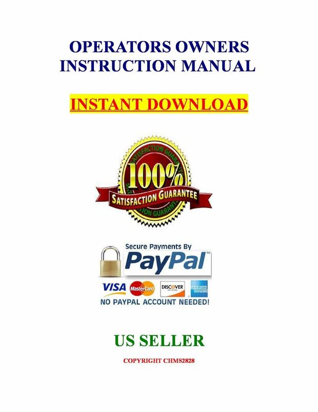 Kubota Tractor L2900 L3300 L3600 L4200 Operators Instruction Owners Manual Guide