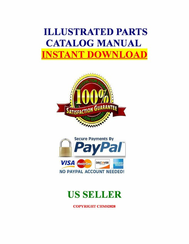 Kubota FL850 Tractor Illustrated Master Parts Catalog Manual Guide download
