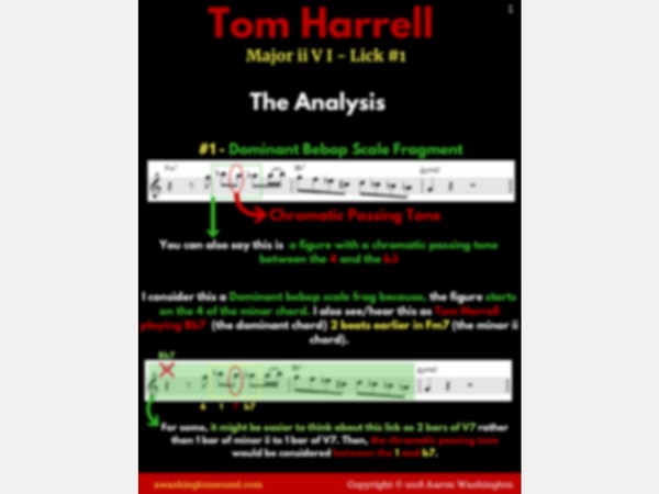 Major ii V I Lick #1 (Tom Harrell)