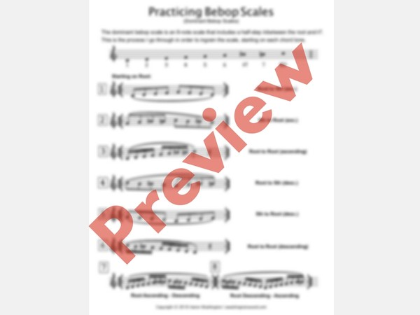 Practicing Dominant Bebop Scales PDF | TBT Masterclass #9