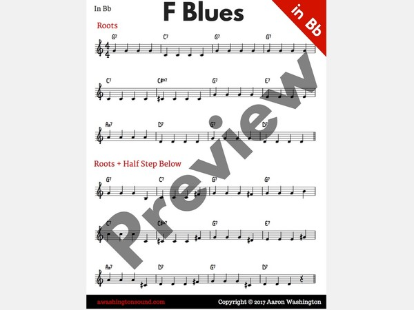 F Blues: Fundamental Exercises (in Bb)