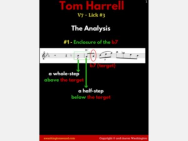 V7 Lick #3 (Tom Harrell)