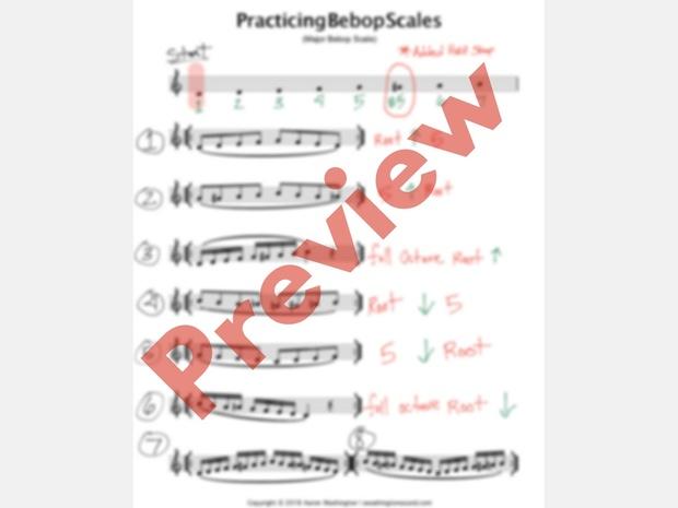 Practicing Major Bebop Scale PDF | TBT Masterclass #7
