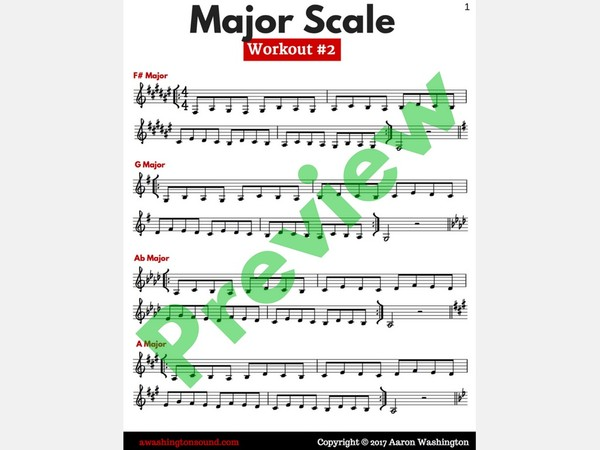 Major Scale Workout #2