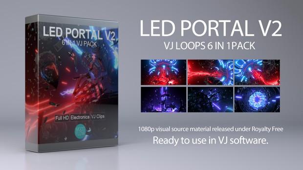 LED Portal v2 - 6 in 1 VJ Loops Pack
