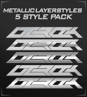 Metallic Layerstyles Pack