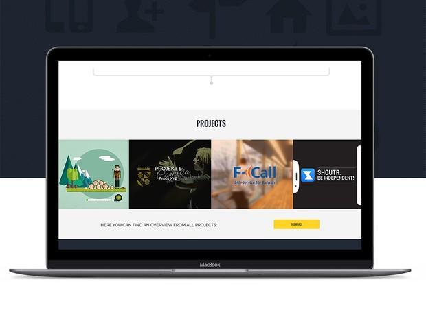 Sicnificado – agency one page landing page web design