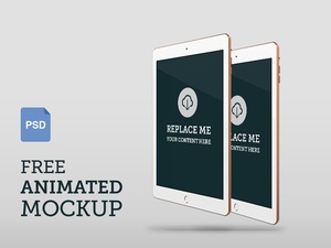 Animated iPad Air 2 Photoshop (psd) Mockup – Front Perspective