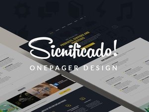 Sicnificado – agency one page landing page web design