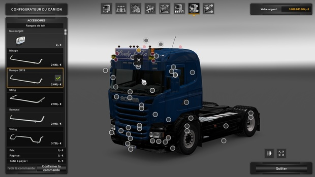 RoofGrill Scania Low Cab Scania R&S And Serie 4 (RJL)