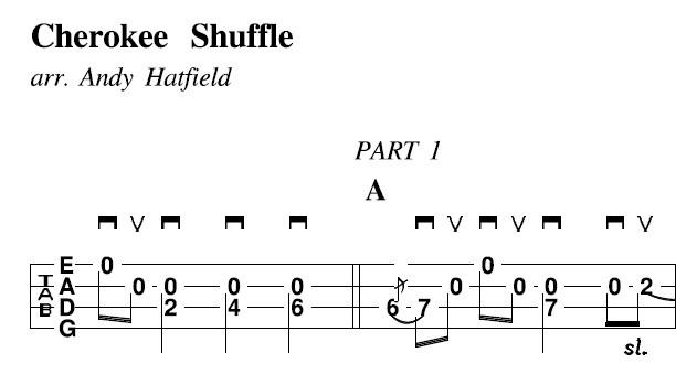 Cherokee Shuffle tab