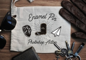 Enamel Pin Photoshop Action