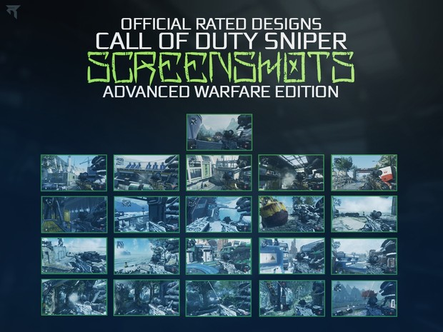 Call Of Duty AW Sniper Screenshot Pack 1 By Rated