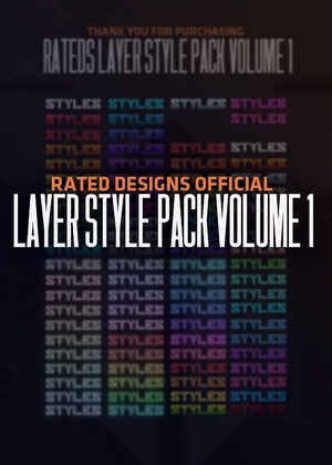 Rated Designs Layer Style Pack Volume 1
