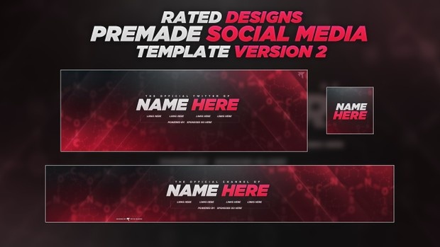 Rated's Social Media Customizable Designs v2