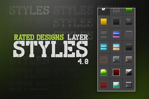 Rated Designs Layer Styles 4.0